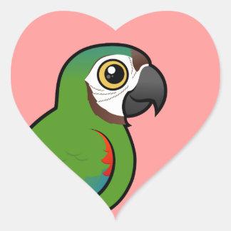Birdorable Chestnut-fronted Macaw Heart Sticker