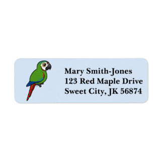 Birdorable Chestnut-fronted Macaw Label