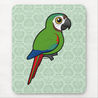 Birdorable Chestnut-fronted Macaw Mouse Pad