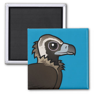 Birdorable Cinereous Vulture 2 Inch Square Magnet