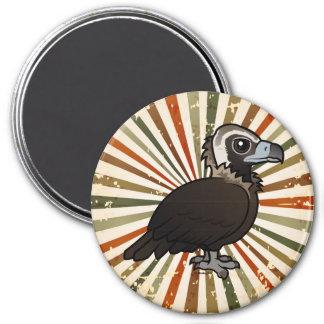 Birdorable Cinereous Vulture 3 Inch Round Magnet