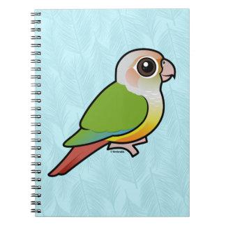 Birdorable Cinnamon Green-cheeked Conure Spiral Notebooks
