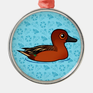 Birdorable Cinnamon Teal Metal Ornament