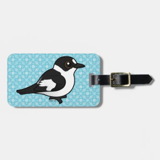 Birdorable Collared Flycatcher Luggage Tag