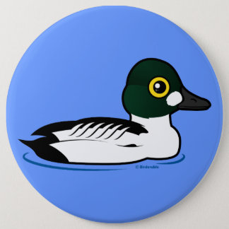 Birdorable Common Goldeneye Pinback Button