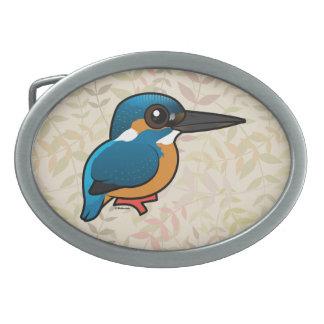 Birdorable Common Kingfisher Oval Belt Buckle