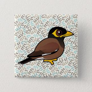 Birdorable Common Myna Pinback Button