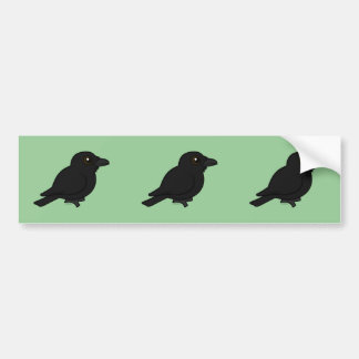 Birdorable Common Raven Bumper Stickers