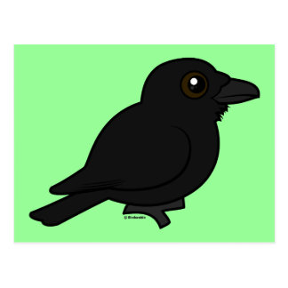 Birdorable Common Raven Postcard