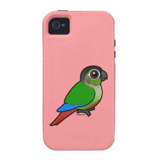 Birdorable Conure Verde-cheeked iPhone 4 Carcasas