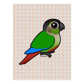 Birdorable Conure Verde-cheeked Tarjetas Postales