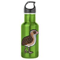 Birdorable Corn Crake Water Bottle (24 oz)