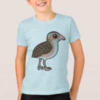 Birdorable Corn Crake Kids' American Apparel Fine Jersey T-Shirt