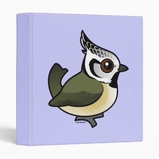 Birdorable Crested Tit 3 Ring Binders