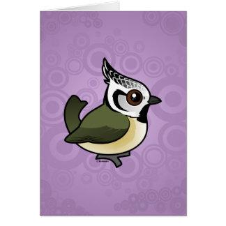 Birdorable Crested Tit Card