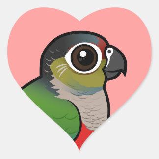 Birdorable Crimson-bellied Parakeet Heart Sticker