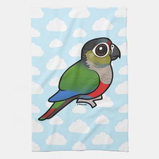 Birdorable Crimson-bellied Parakeet Kitchen Towel