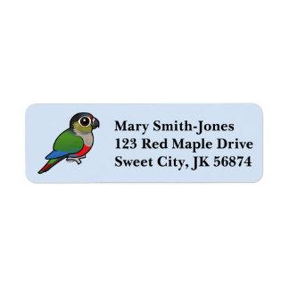Birdorable Crimson-bellied Parakeet Label