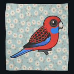 """Birdorable Crimson Rosella Bandana<br><div class=""""desc"""">Crimson Rosellas are small parrots found in the wild in Australia. These pretty red birds have striking black scalloping along the back and blue highlights on the cheeks, tail, and wings. These darling birds are popular in aviculture where they can be found with different color mutations. You can customize this...</div>"""