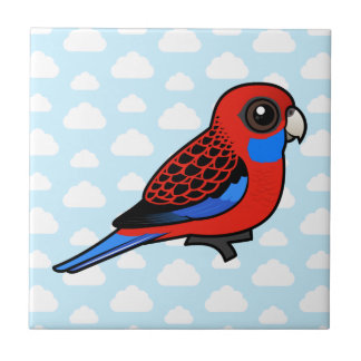 Birdorable Crimson Rosella Ceramic Tile