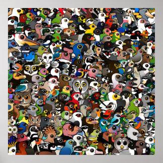 Birdorable Crowd Poster