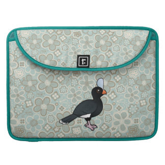 Birdorable Curassow con casco Funda Para Macbooks