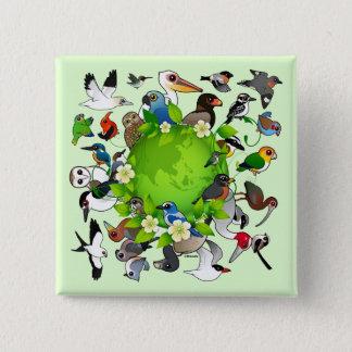 Birdorable Earth Day Button