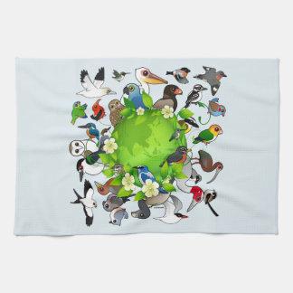 Birdorable Earth Day Hand Towel