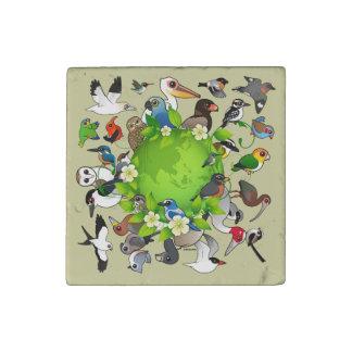 Birdorable Earth Day Stone Magnet