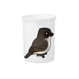 Birdorable Eastern Phoebe Beverage Pitcher