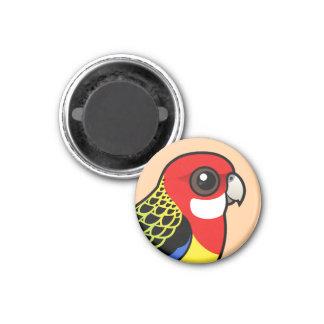 Birdorable Eastern Rosella 1 Inch Round Magnet