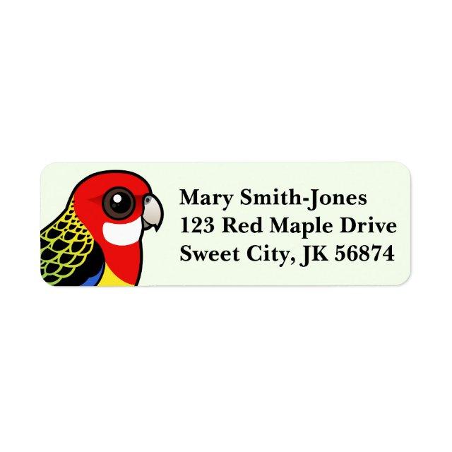 eastern rosella return label cute bird gifts