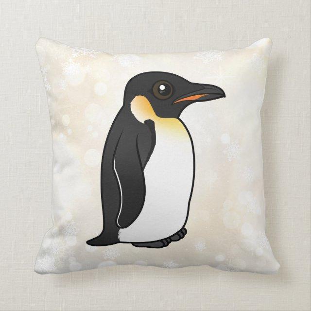 Birdorable Cute Emperor Penguin Cotton Throw Pillow