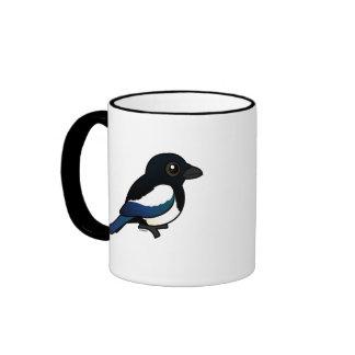 Birdorable Eurasian Magpie Ringer Mug