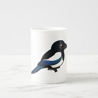 Birdorable Eurasian Magpie Tea Cup