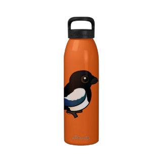 Birdorable Eurasian Magpie Reusable Water Bottle
