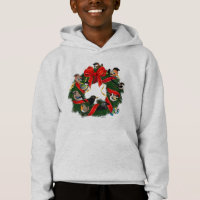 Birdorable European Garden Birds Christmas Wreath Girls' American Apparel Fine Jersey T-Shirt