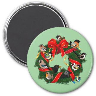 Birdorable European Garden Birds Christmas Wreath Magnet
