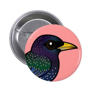 Birdorable European Starling Buttons