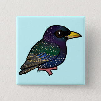 Birdorable European Starling Button