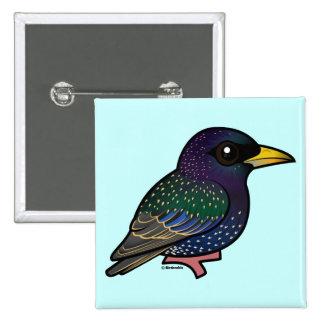 Birdorable European Starling Button