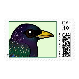 Birdorable European Starling Postage