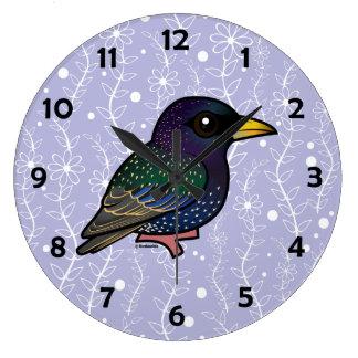 Birdorable European Starling Wall Clocks