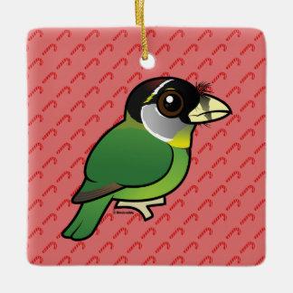 Birdorable Fire-tufted Barbet Ceramic Ornament