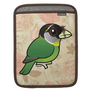 Birdorable Fire-tufted Barbet iPad Sleeve