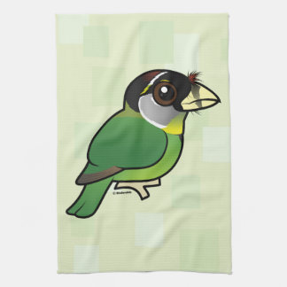 Birdorable Fire-tufted Barbet Towels