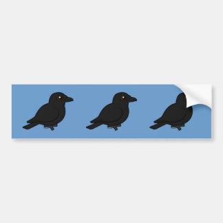 Birdorable Fish Crow Bumper Sticker