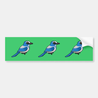 Birdorable Florida Scrub-Jay Bumper Sticker