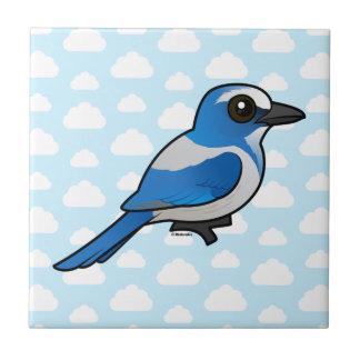 Birdorable Florida Scrub-Jay Ceramic Tile