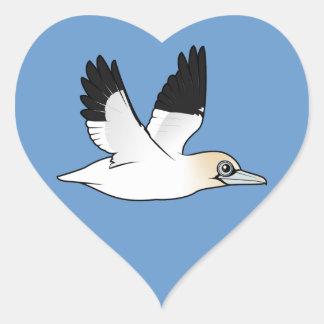 Birdorable Flying Northern Gannet Heart Sticker